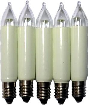 LED Kleinschaftkerzen 5 Stück 8-55Volt