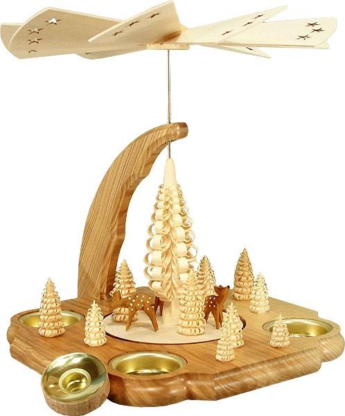HoDreWa Legler Pyramide mit Rehe