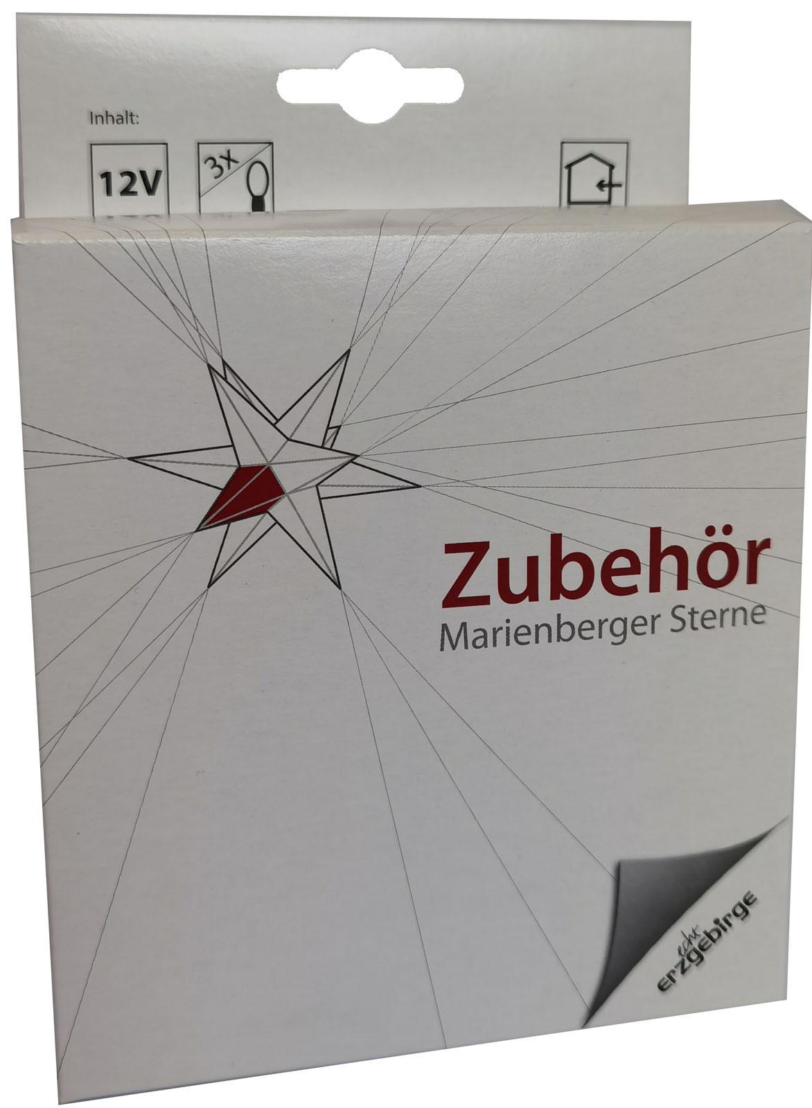 Netzteil mit Beleuchtung für Marienberger Adventssterne - Kabel 2,25m