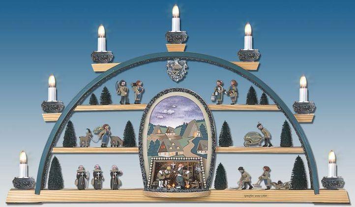 Manufaktur Klaus Kolbe Schwibbogen Cynsifen, buntes Bild für 365,40 €
