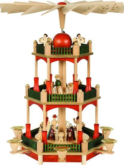 2-storeyed pyramid, Nativity - red