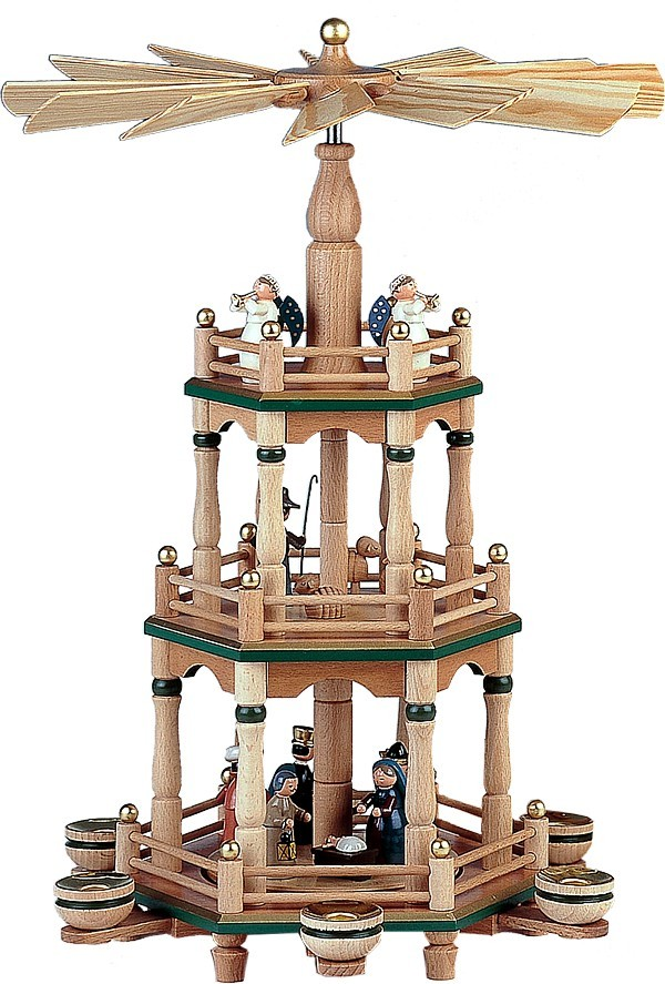 kwo zweistufige weihnachtspyramide in natur f r 246 40. Black Bedroom Furniture Sets. Home Design Ideas