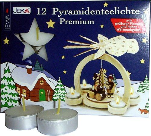 12 Pyramidenteelichte