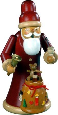 Kleinkunst Müller Räuchermann Weihnachtsmann mit Geschenken, groß
