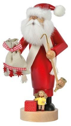 KWO Räuchermann Weihnachtsmann mit Puppe -Die Schlanken-