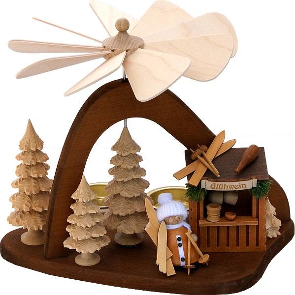RATAGS Holzdesign Massivholzpyramide Glühweinstand, modern