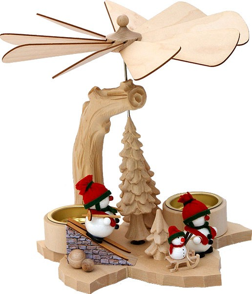 RATAGS Holzdesign Blattpyramide Schneemänner