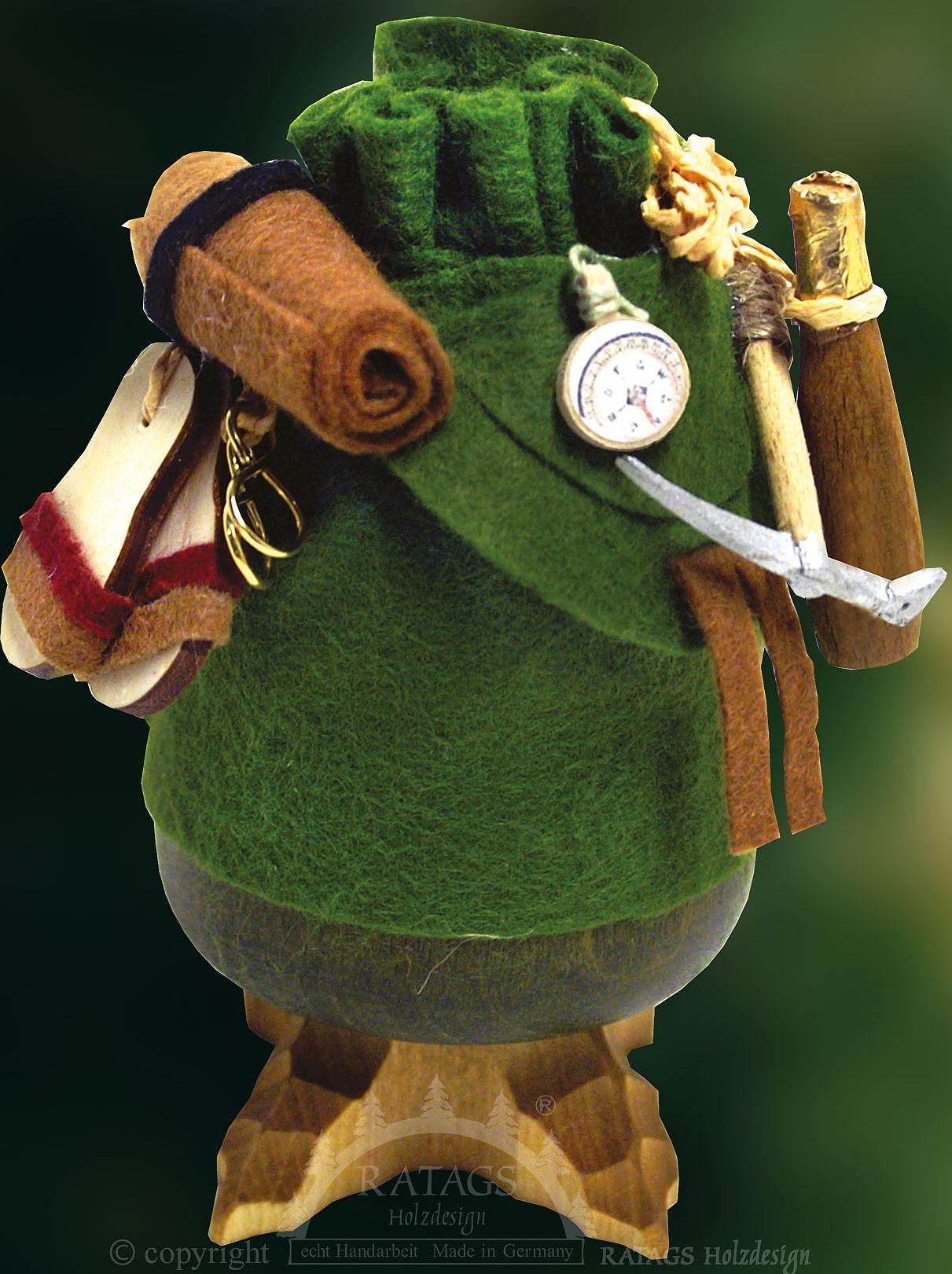 Ratags Räucherfigur Räuchersack, grün