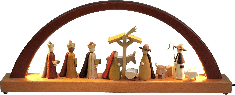 Richard Glässer Schwibbogen Christi Geburt - neues Design