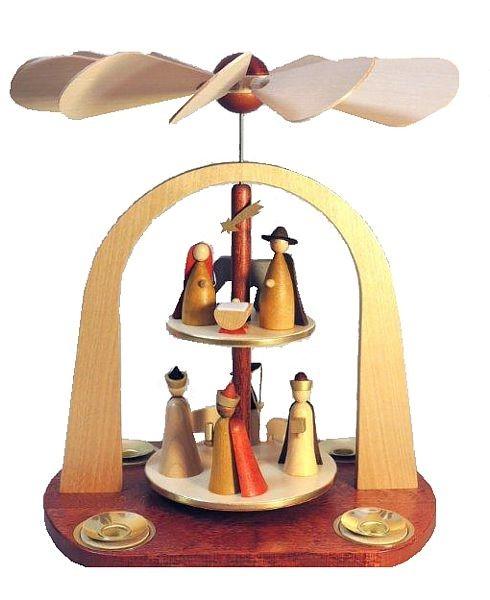 2-storeyed pyramid, Nativity, in new natural wood design