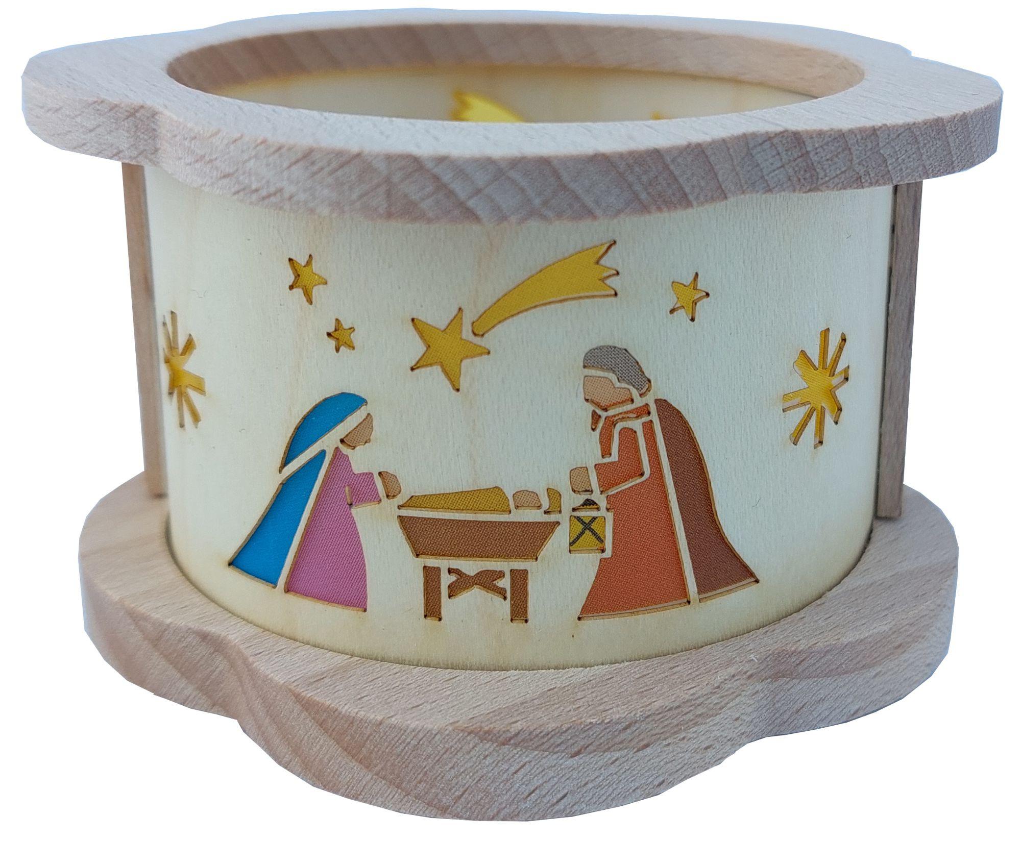 Richard Glässer Teelichtlaterne Christi Geburt