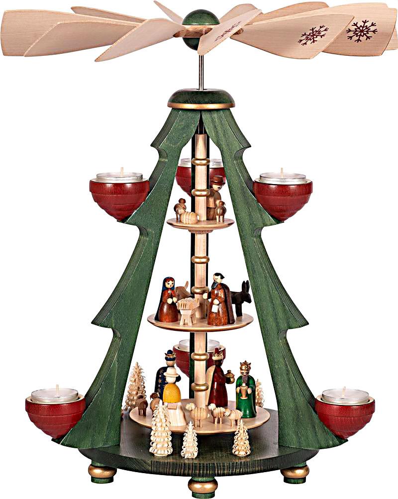 Richard Glässer Baumpyramide Christi Geburt 3-stöckig