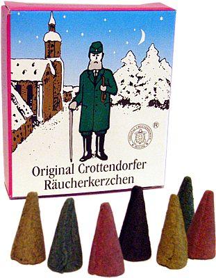 Crottendorfer Mini-Räucherkerzen Weihnachtsmischung