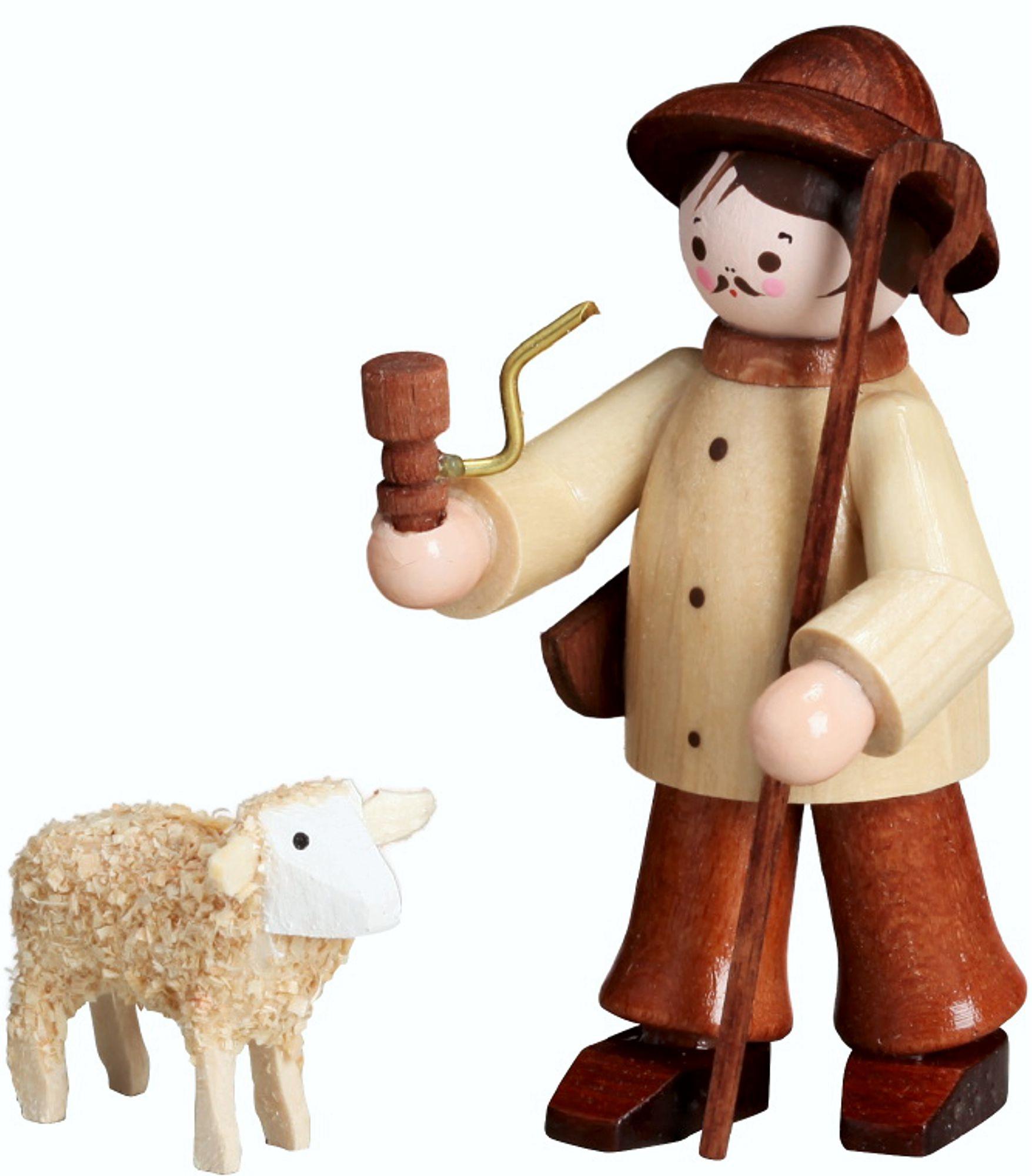 Romy Thiel Hirte mit Schaf, natur