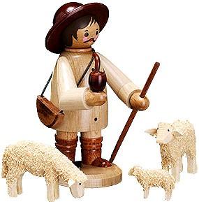 Romy Thiel Hirte mit Schafen, groß, natur