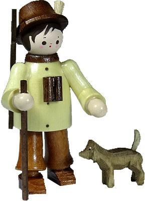 Romy Thiel Förster mit Hund - natur