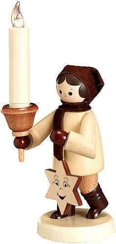Romy Thiel Lampionkind mit Stern und Lumix-Kerze, groß - natur
