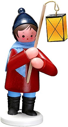 lantern child, large - boy, red