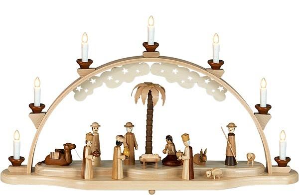 Ellmann Schwibbogen Christi Geburt / natur für 324,00 €