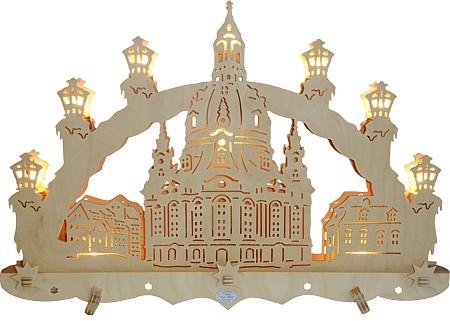 geissler 3d schwibbogen dresdner frauenkirche f r 93 20. Black Bedroom Furniture Sets. Home Design Ideas
