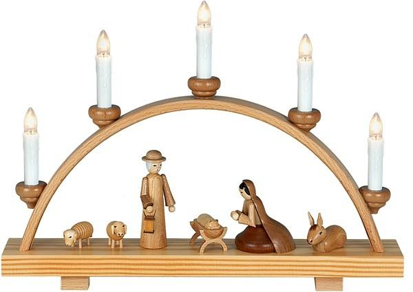 Ellmann Schwibbogen Heilige Familie / natur für 130,00 €