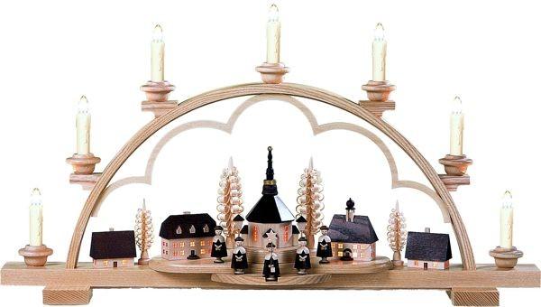 kleinkunst m ller schwibbogen seiffener dorf natur f r 487 00. Black Bedroom Furniture Sets. Home Design Ideas