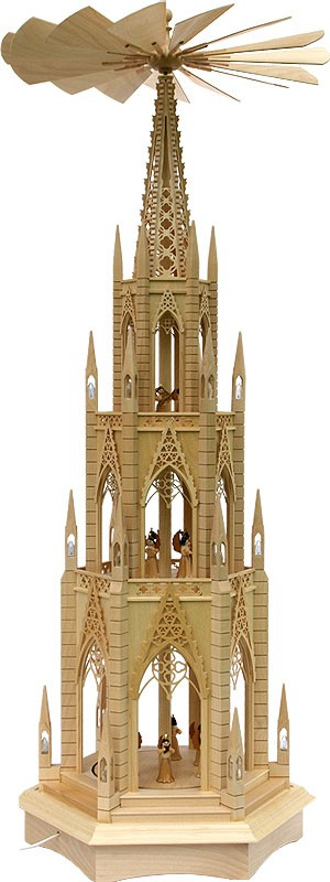 cathedral pyramid with pleated skirt angels