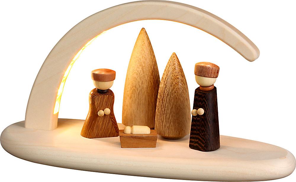Seiffener Volkskunst Lichterbogen Christi Geburt, natur