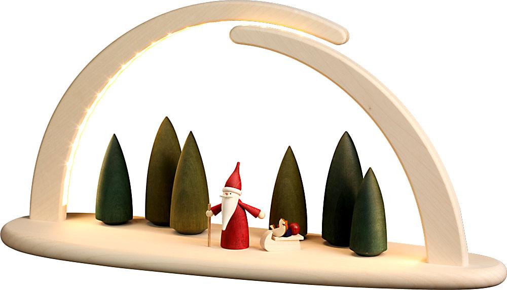 Seiffener Volkskunst Lichterbogen Weihnachtswichtel