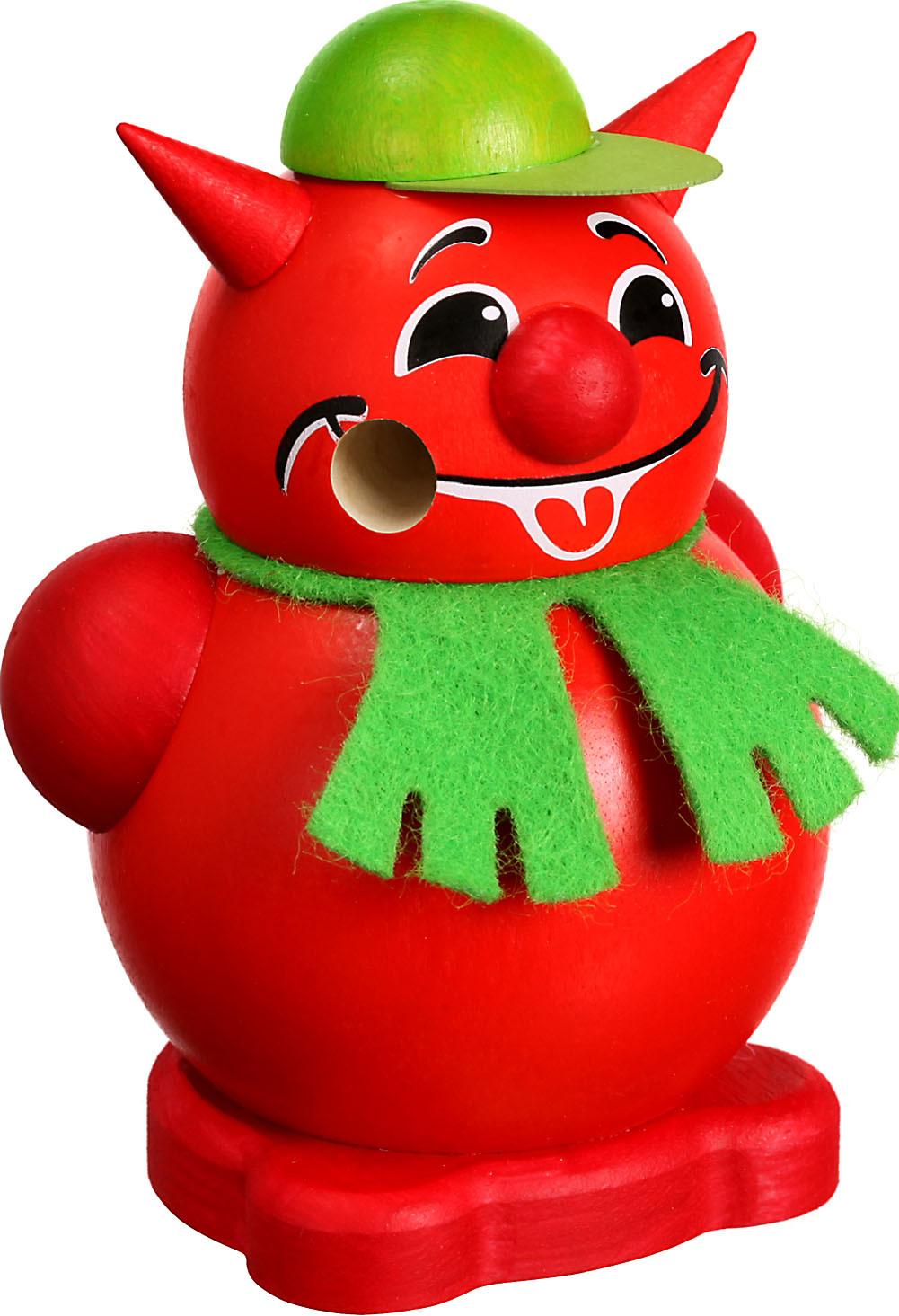 Seiffener Volkskunst Kugelräucherfigur Teufel, klein