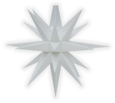 Kleiner Herrnhuter Stern weiss, LED