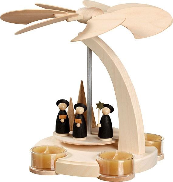 Seiffener Volkskunst eG Bogenpyramide klein mit Weihnachtssänger