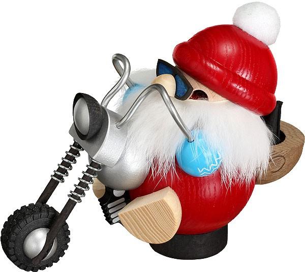 Seiffener Volkskunst eG Kugelräucherfigur Biker-Nikolaus