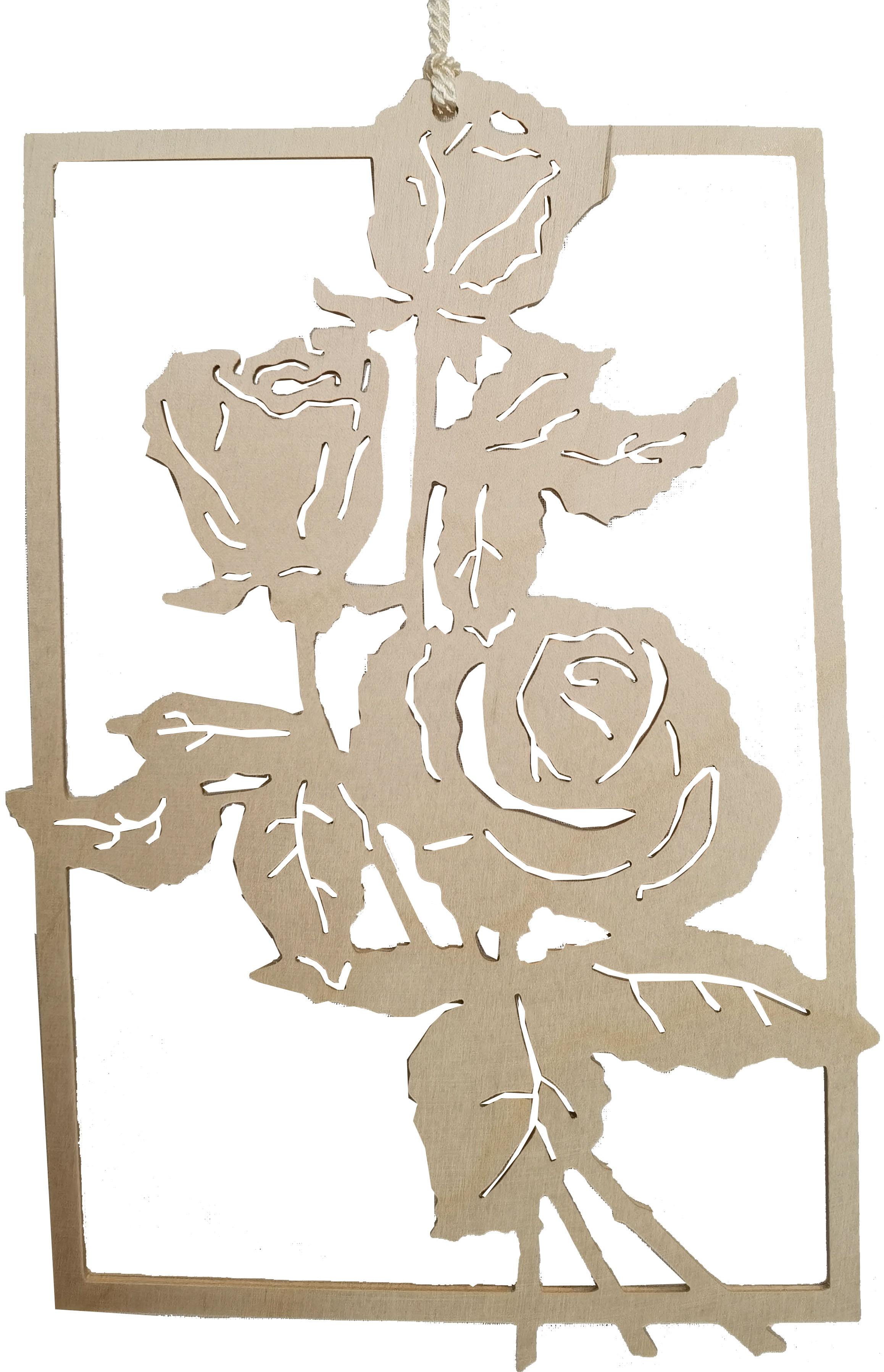 Taulin Fensterbild Rose