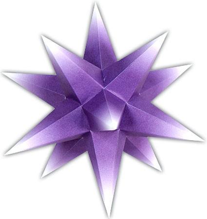 Marienberger Adventsstern - violetter Kern mit weißer Spitze