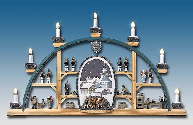 Manufaktur Klaus Kolbe Schwibbogen Seiffener Höhle