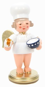 baker angel with egg