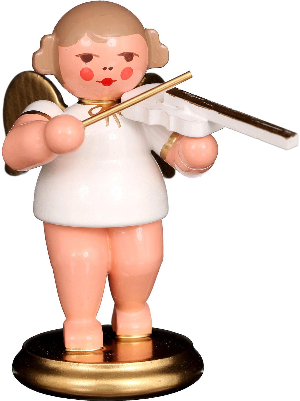 Christian Ubricht Engel mit Geige, weiß/gold