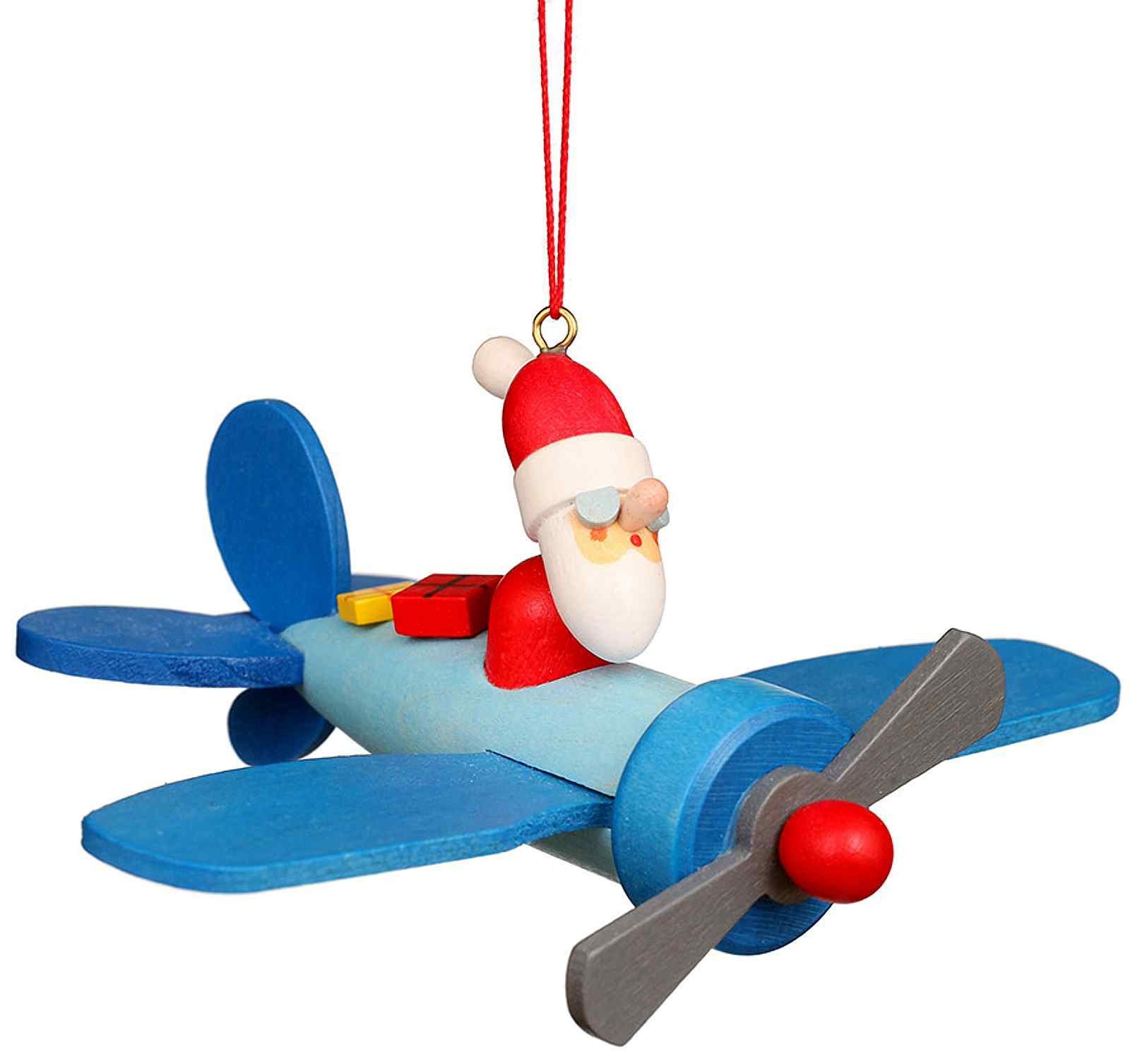 Christian Ulbricht Baumschmuck Weihnachtsmann im Flieger