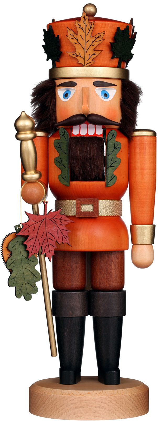 nutcracker autumn king glazed