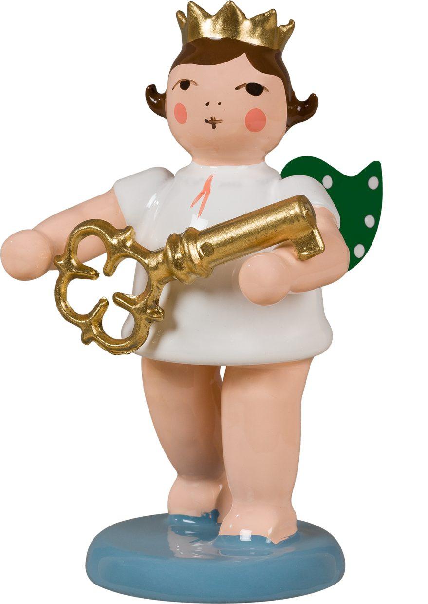Adventengel mit Schlüssel, mit Krone