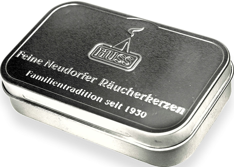 Huss Blechdose klein - Weihrauch