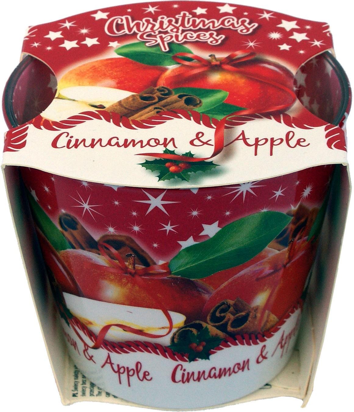 Knox Duftkerze im Glas Christmas Spices - Zimt/Apfel