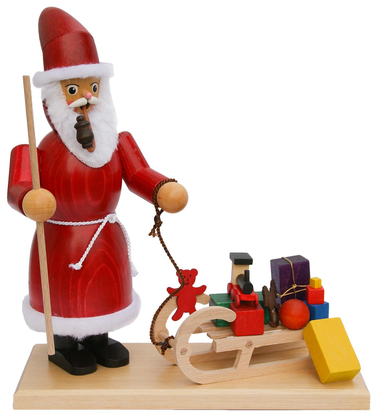 Krauß Räuchermännchen Weihnachtsmann mit Schlitten