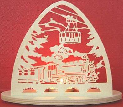Taulin Teelichthalter Eisenbahn - oval
