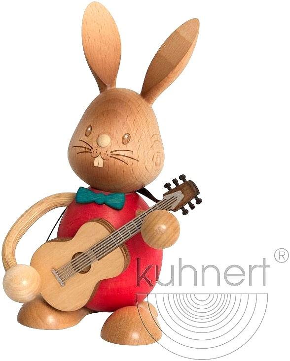 Drechslerei Kuhnert Stupsi Hase mit Gitarre