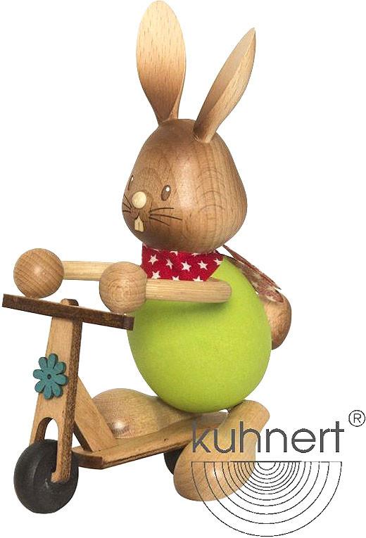 Drechslerei Kuhnert Stupsi Hase mit Roller