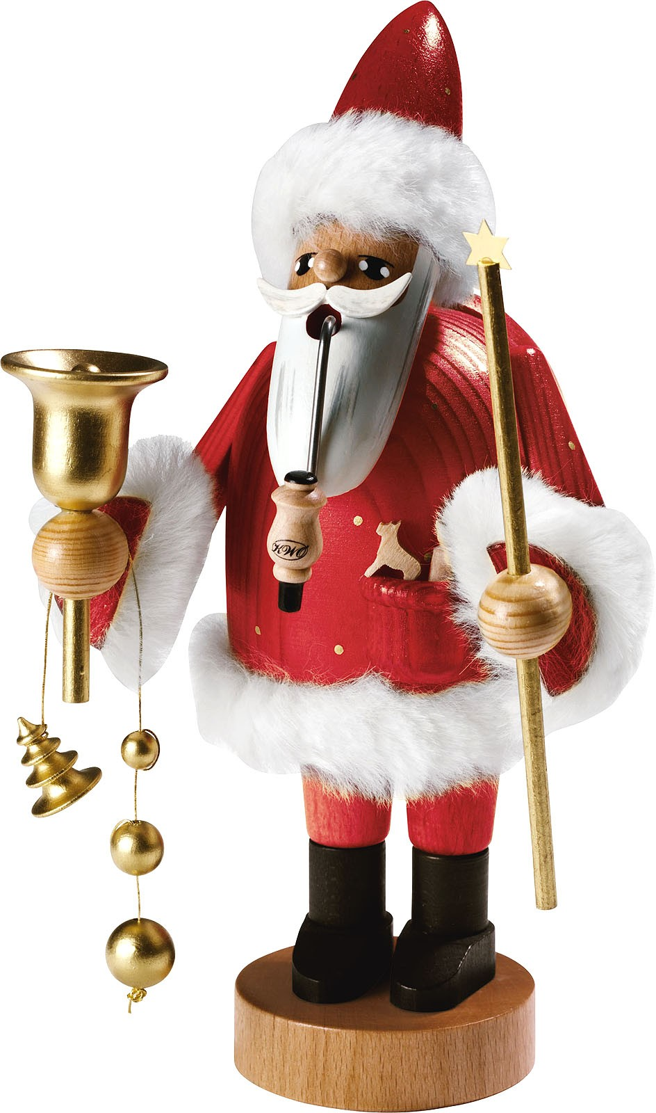 incense smoker, Santa Claus -the bearded men- 14.57 inches
