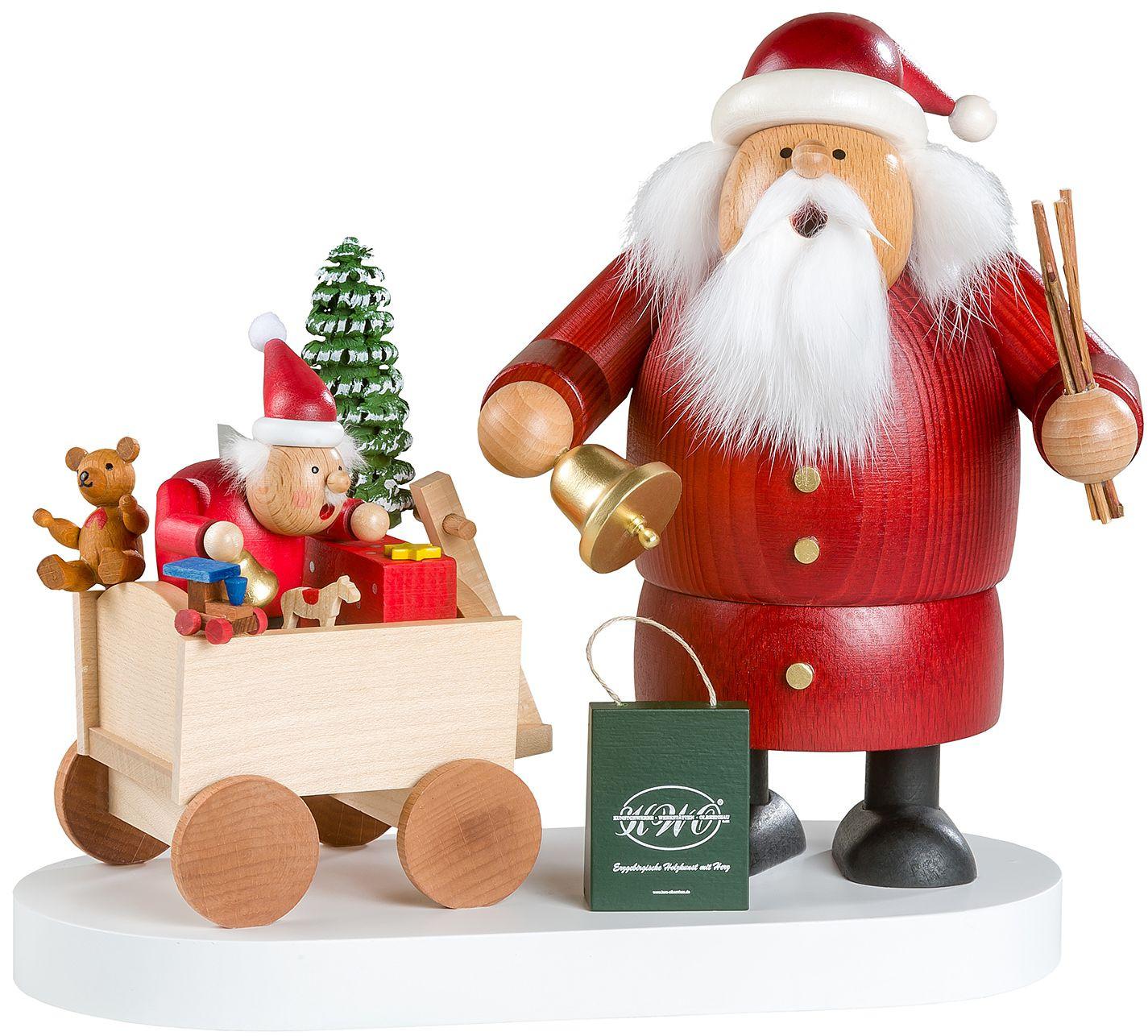 KWO Räuchermann Weihnachtsmann mit Kind