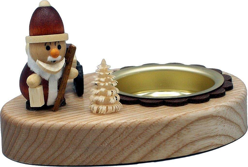 HoDreWa Legler Teelichthalter Weihnachtsmann - 5 cm